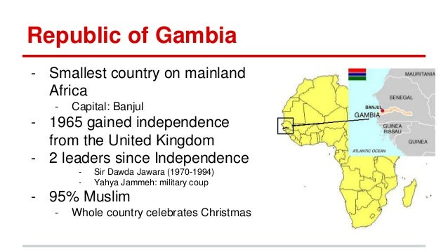 Ndey Gambia - Smallest country in mainland africa
