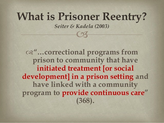 Prisoner re-entry programs: Age variation in attitudes and experience…
