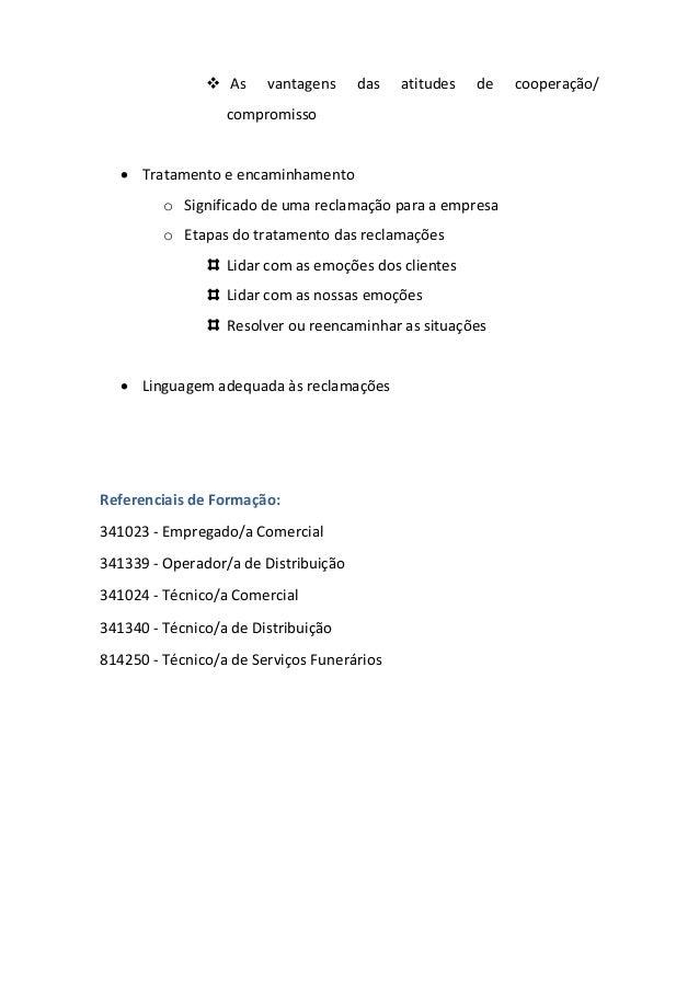 UFCD - 0357 - Reclamações: Tratamento e Encaminhamento Slide 3