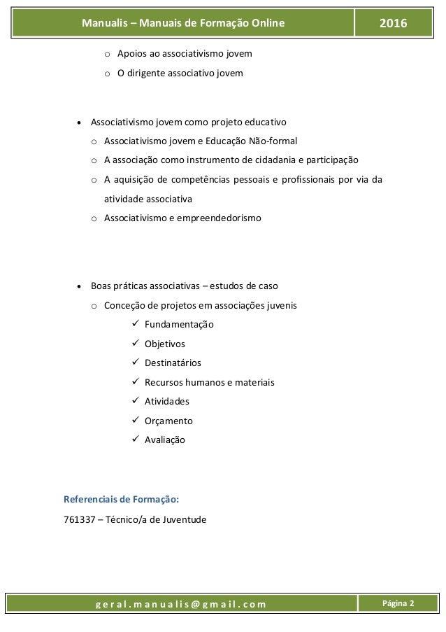 UFCD - 8976 - ASSOCIATIVISMO JOVEM E CIDADANIA Slide 3