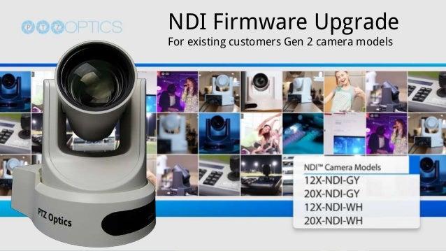 NewTek NDI Firmware Upgrade for PTZOptics