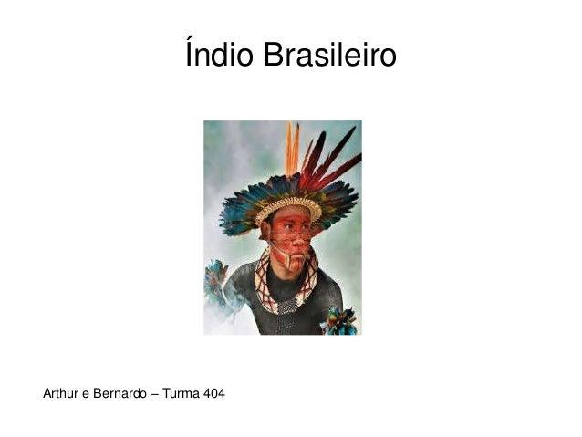 Índio Brasileiro Arthur e Bernardo – Turma 404
