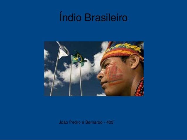 Índio Brasileiro João Pedro e Bernardo - 403
