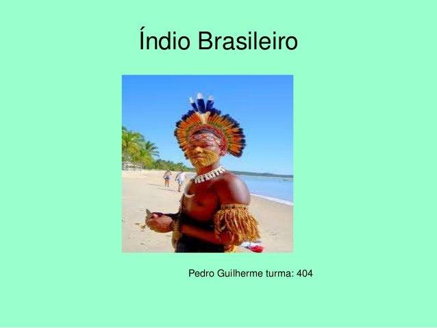 Pedro Guilherme turma: 404 Índio Brasileiro