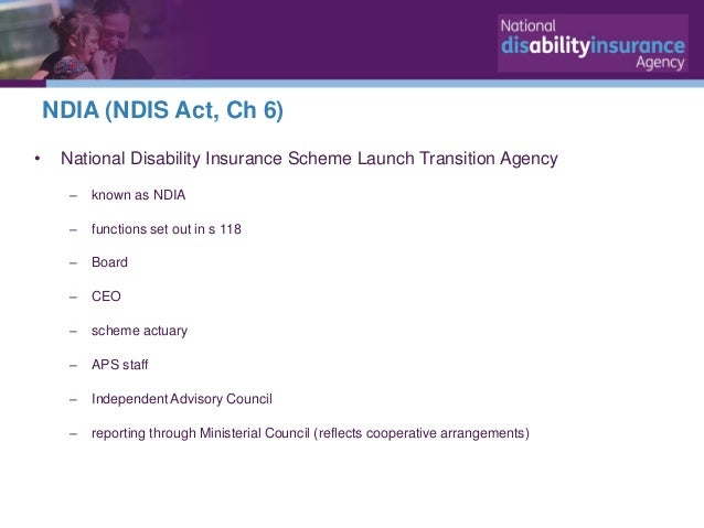 The National Disability Insurance Scheme - Update