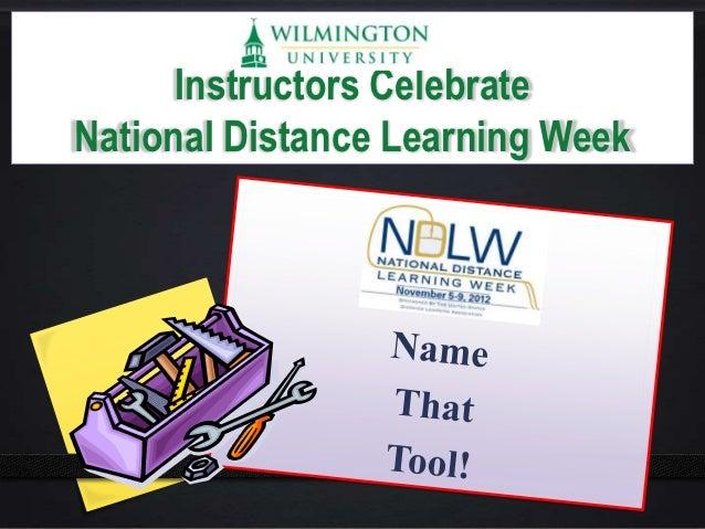 Instructors CelebrateNational Distance Learning Week
