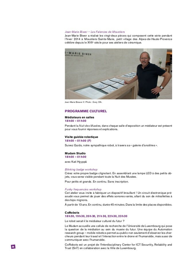 36 Jean-Marie Biwer – Les Faïences de Moustiers Jean-Marie Biwer a réalisé les vingt-deux pièces qui composent cette série...