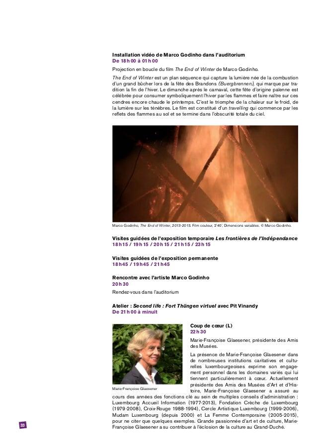 33 Installation vidéo de Marco Godinho dans l'auditorium De 18h00 à 01h00 Projection en boucle du film The End of Wint...