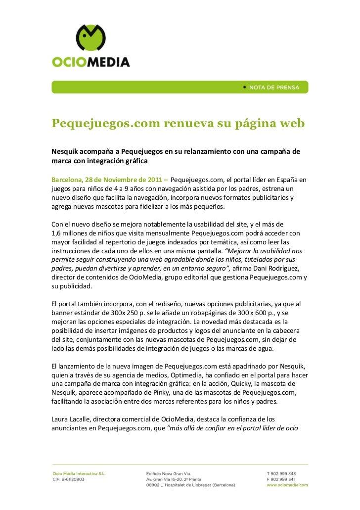 Ndp- Pequejuegos.com renueva su página web