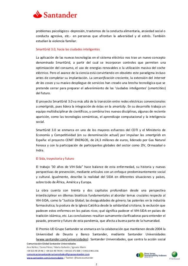 Un proyecto sobre las smartgrids y otro sobre el SIDA, reconocidos por el X Premio UD-Banco Santander de Investigación Slide 2