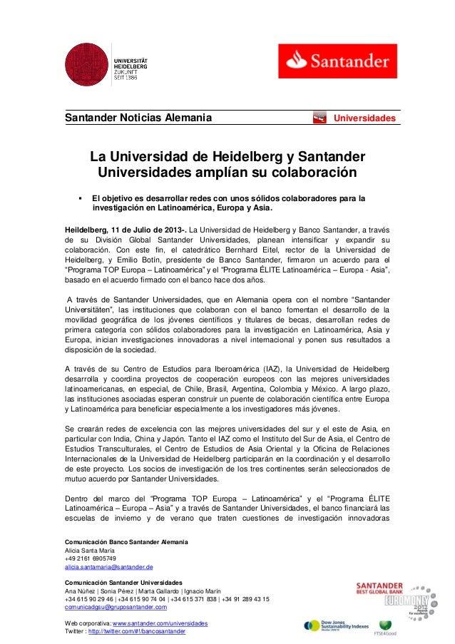 Comunicación Banco Santander Alemania Alicia Santa María +49 2161 6905749 alicia.santamaria@santander.de Comunicación Sant...