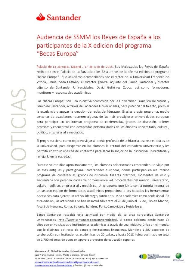NOTICIAS ComunicaciónGlobalSantanderUniversidades AnaNúñez/SoniaPérez/MartaGallardo/IgnacioMarín...