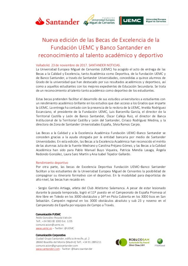 Comunicación FUEMC Pablo González-Posada Vaticón Telf.: +34 983 00 1000 Ext. 1235 comunicacion@uemc.es www.uemc.es – Twitt...
