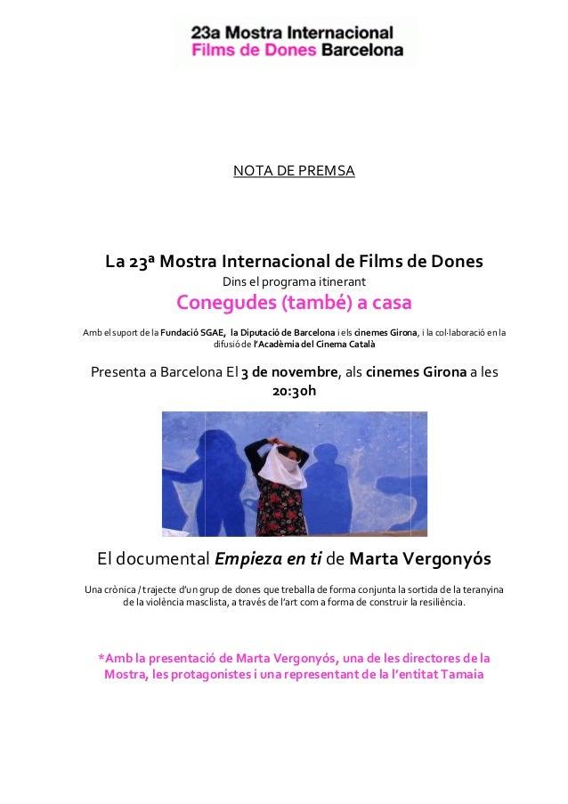 Contra la Violència en vers les dones: Empieza en tí de Marta Vergonyós