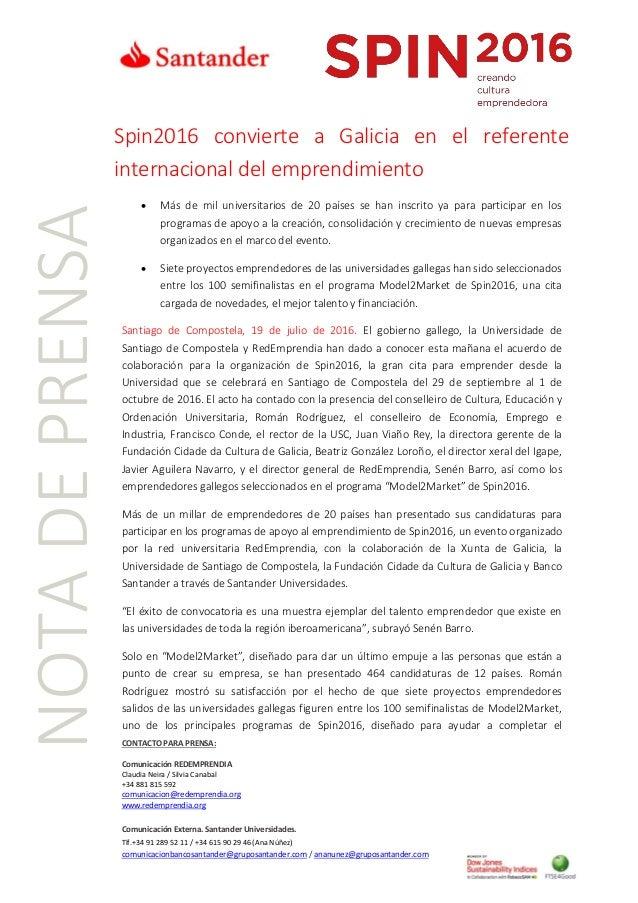 CONTACTO PARA PRENSA: Comunicación REDEMPRENDIA Claudia Neira / Silvia Canabal +34 881 815 592 comunicacion@redemprendia.o...