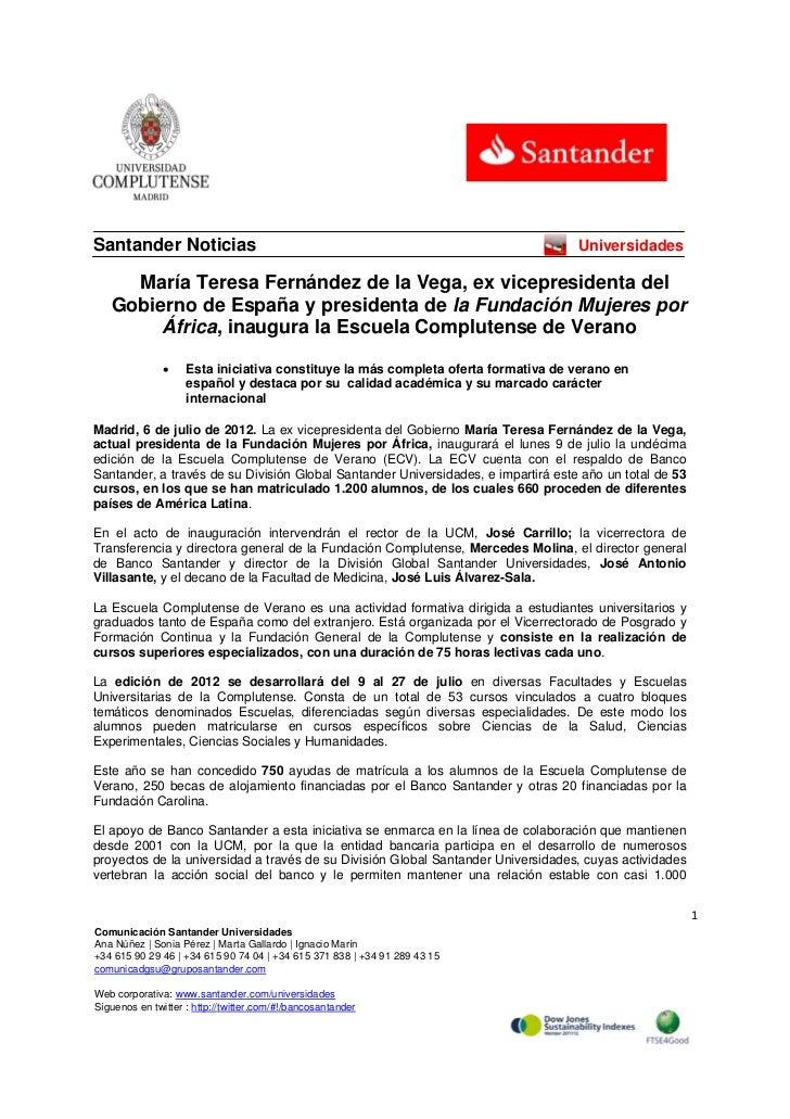 Santander Noticias                                                                 Universidades      María Teresa Ferná...