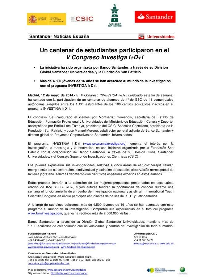Fundación San Patricio Comunicación CSIC José Alberto Martínez / Mª Jesús Rodríguez Ainhoa Goñi +34 649854491 | +34 661645...
