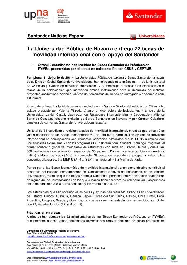 Comunicación Universidad Pública de Navarra Ana Ollo / +34 948 16 90 07 servicio.comunicacion@unavarra.es/ www.unavarra.es...