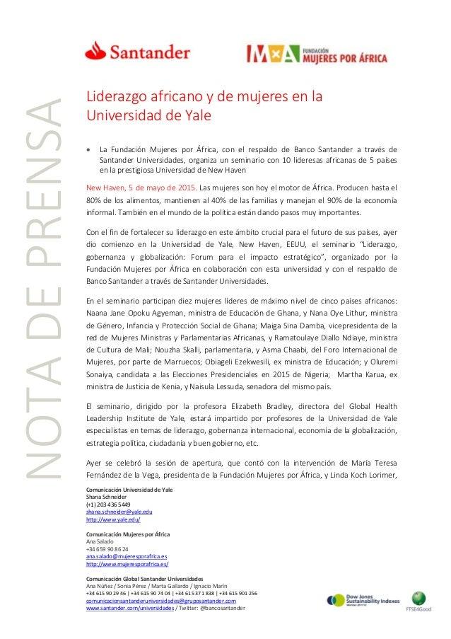 Comunicación Universidad de Yale Shana Schneider (+1) 203 436 5449 shana.schneider@yale.edu http://www.yale.edu/ Comunicac...