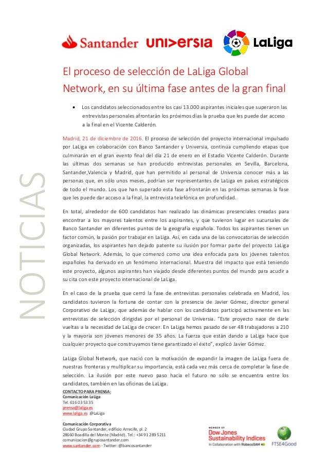 CONTACTO PARA PRENSA: Comunicación LaLiga Tel. 616 03 53 35 prensa@laliga.es www.laliga.es @LaLiga Comunicación Corporativ...