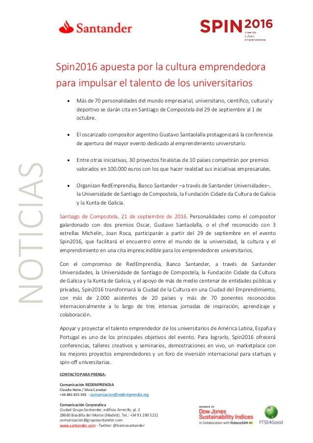 CONTACTO PARA PRENSA: Comunicación REDEMPRENDIA Claudia Neira / Silvia Canabal +34 881 815 592 - comunicacion@redemprendia...