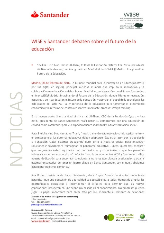 Atención a los medios WISE (container contenidos) Julián Hernández Tel.: +34 630 963 735 prensa@containercontenidos.com Co...