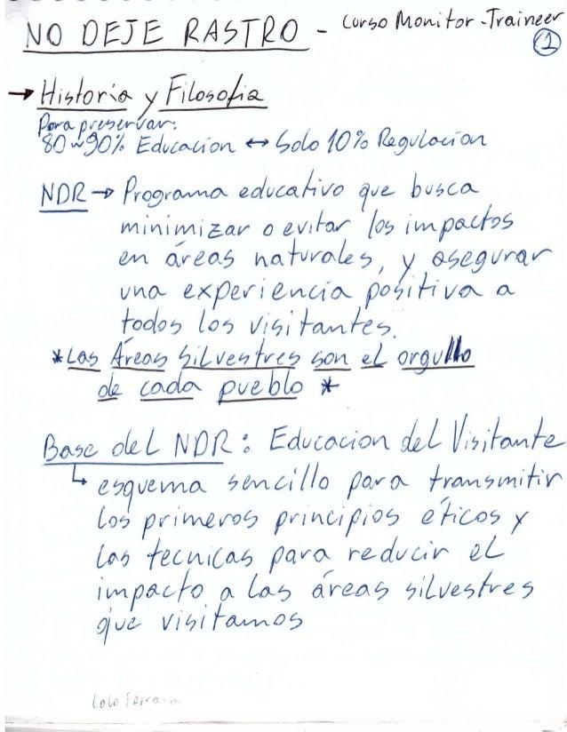 Clases de No Deje Rastro (Leave No Trace) en Español