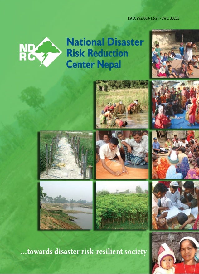 …towards disaster risk-resilient society DAO: 992/063/12/21 • SWC: 30255
