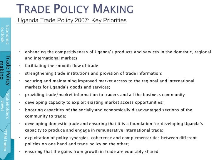 <ul><li>enhancing the competitiveness of Uganda's products and services in the domestic, regional and international market...