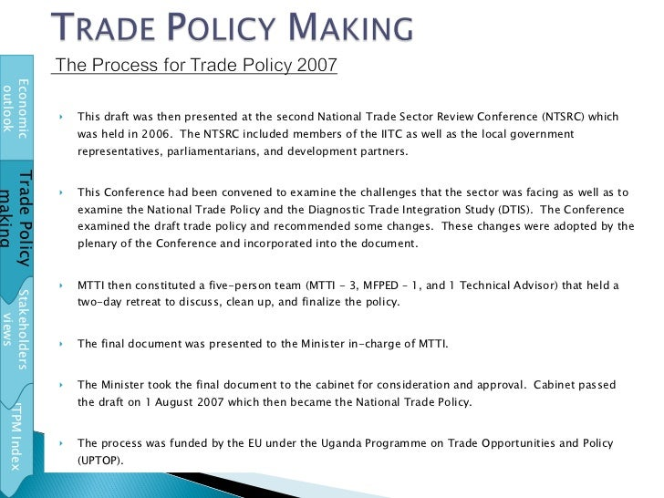 <ul><li>This draft was then presented at the second National Trade Sector Review Conference (NTSRC) which was held in 2006...