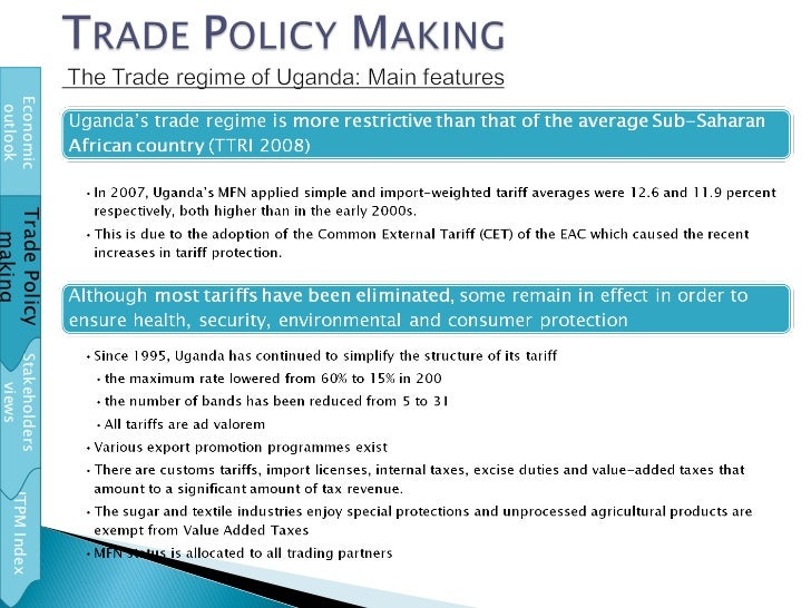 ITPM Index Stakeholders views Economic outlook Trade Policy making