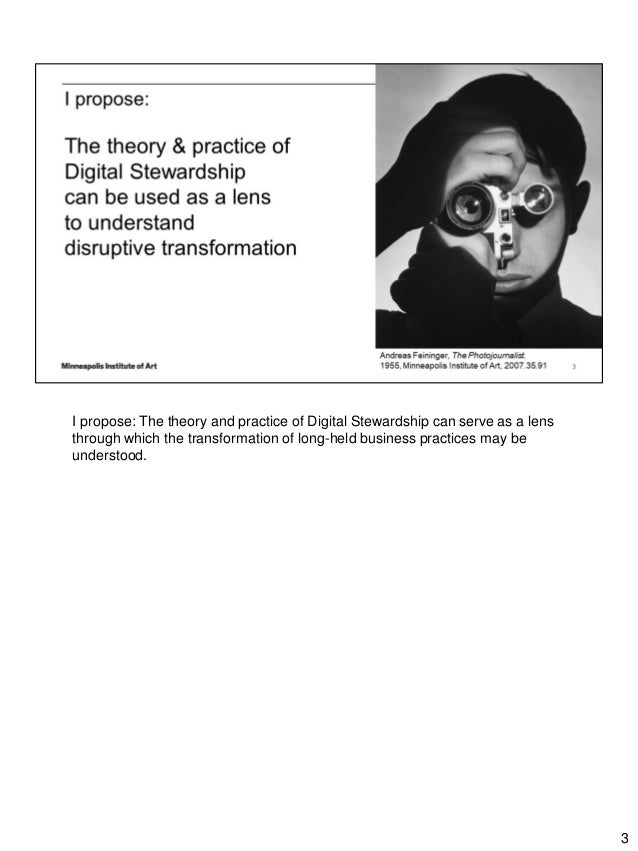 Keynote Address: Digital Transformation & Cultural Heritage, A provocation in four parts Slide 3