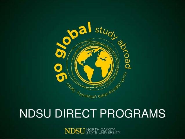 NDSU DIRECT PROGRAMS
