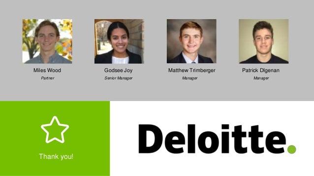Deloitte Advisory RISE Case Competition