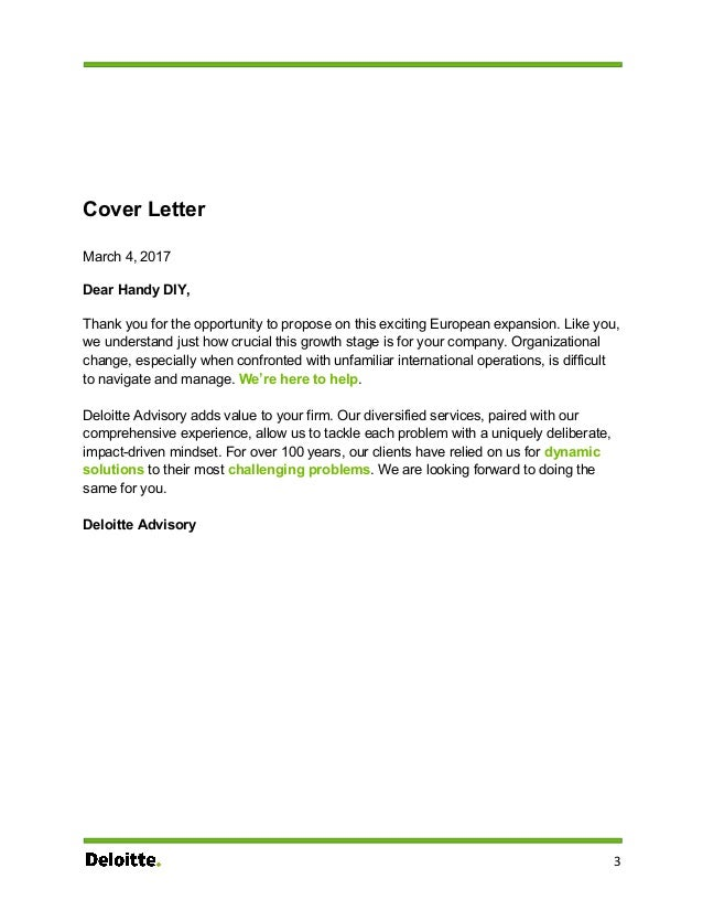 Deloitte Cover Letter. Cover Letter For Deloitte Internship How To