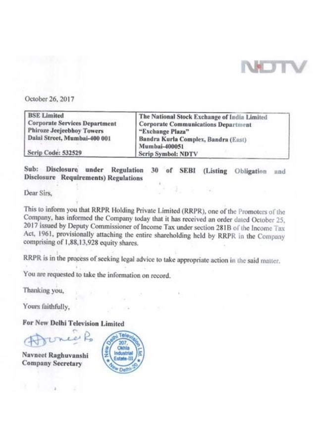 I-T dept attaches promoter holding in NDTV Ltd