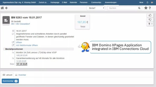 © 2018 IBM Corporation - IBM Collaboration Solutions IBM Domino XPages Application integrated in IBM Connections Cloud