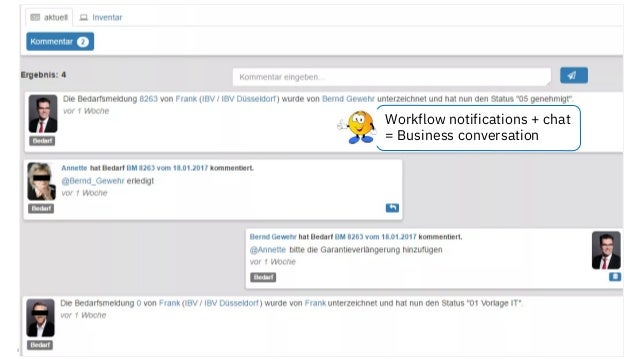 © 2018 IBM Corporation - IBM Collaboration Solutions Workflow notifications + chat = Business conversation