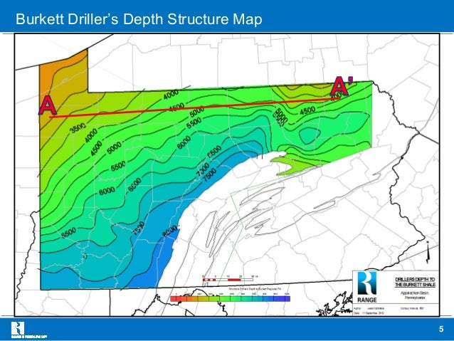 Range Resources Maps & Analysis of Upper Devonian Shale in PA