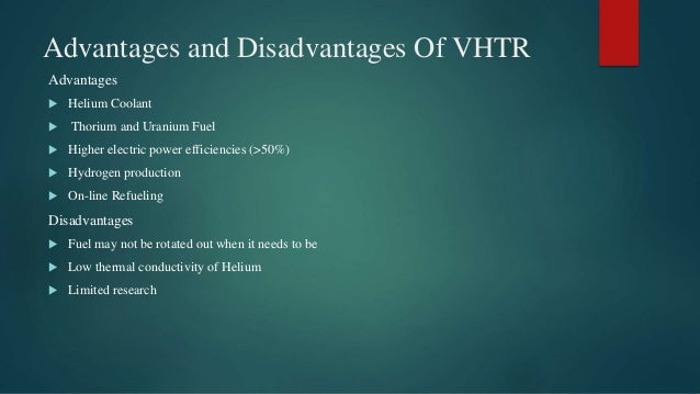 Horseshoe Classroom Design Advantages And Disadvantages : Very high temperature reactor