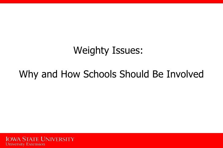 Weighty Issues:  Why and How Schools Should Be Involved