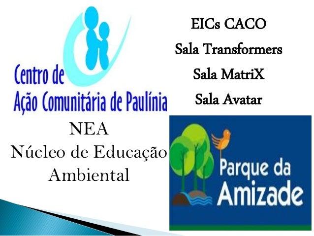 NEA Núcleo de Educação Ambiental EICs CACO Sala Transformers Sala MatriX Sala Avatar