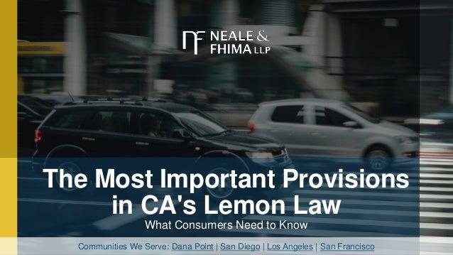 California Lemon Law The Lemon Law Attorneys >> California Lemon Law Attorney