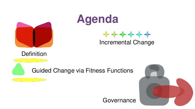 Agenda Definition Guided Change via Fitness Functions Incremental Change Governance