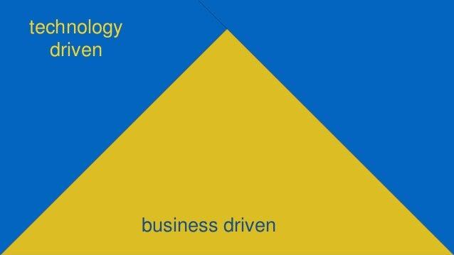 technology driven business driven