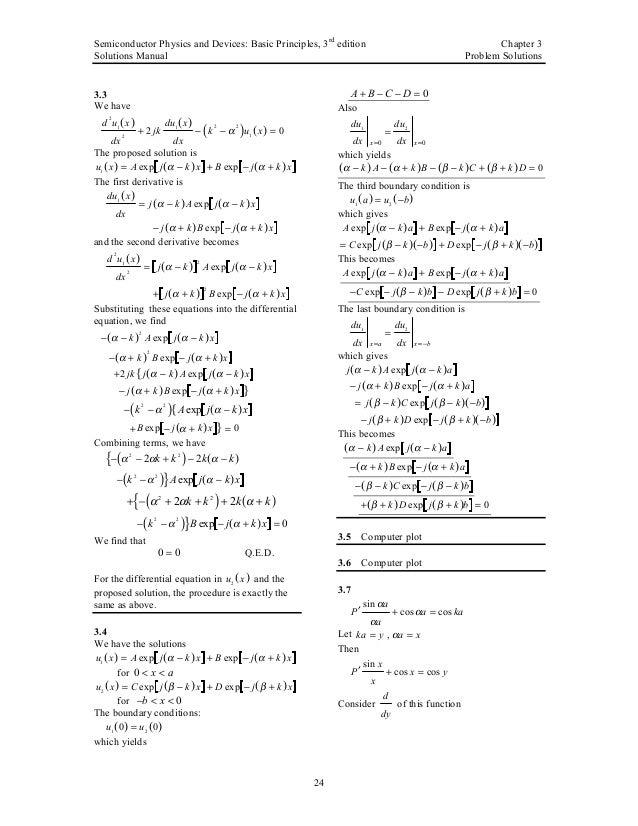 neamen solution manual for semiconductor physics and Math Solution Manual advanced semiconductor fundamentals solution manual download