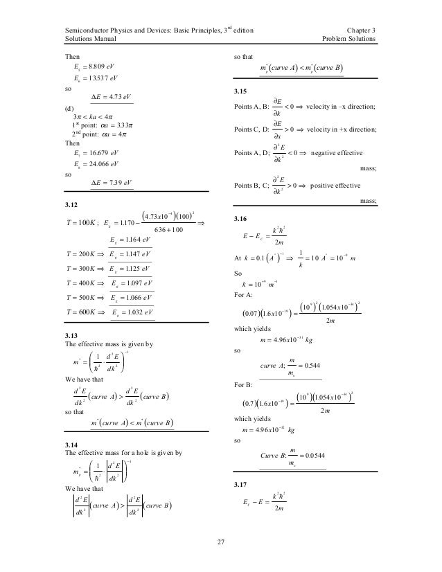Pdf devices semiconductor and physics 4th edition