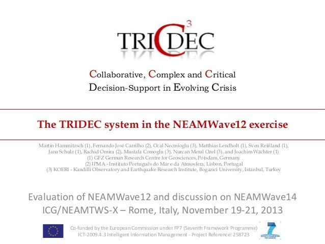 Collaborative, Complex and Critical Decision-Support in Evolving Crisis The TRIDEC system in the NEAMWave12 exercise Marti...