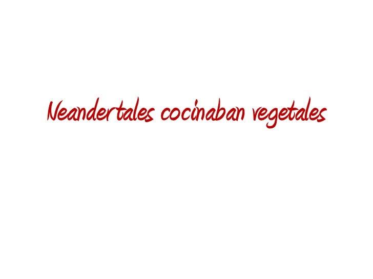Neander tales cocinaban vegetales