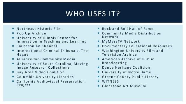 WHO USES IT?   WGBH   I l l inoi s Publ ic Media   Wi sconsin Publ ic Televi s ion   Wi sconsin Publ ic Radio   WYSO ...